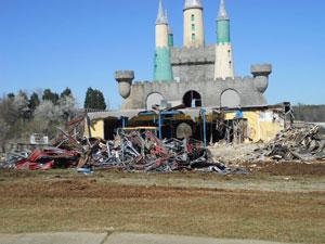 Start of demolition