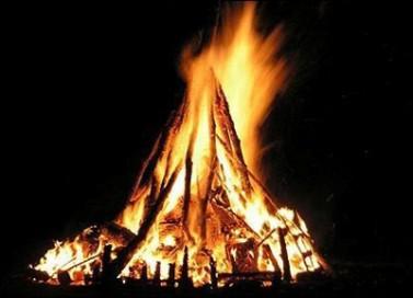 Bonfire at the Upper Room
