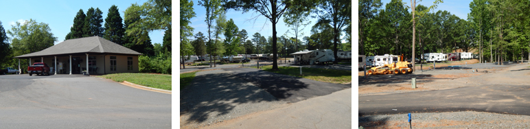 New campground office and campsites