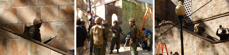 Filming scenes for the Six Day War.