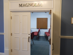 Abounding Grace Church meets in Magnolia Room