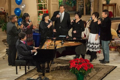 Gospel Sing with Dino & Cheryl Kartsonakis for Jim's 75th Birthday. (Courtesy of Morningside Ministry)