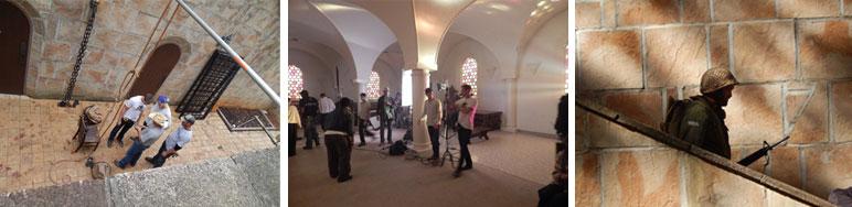 Filming at Upper Room